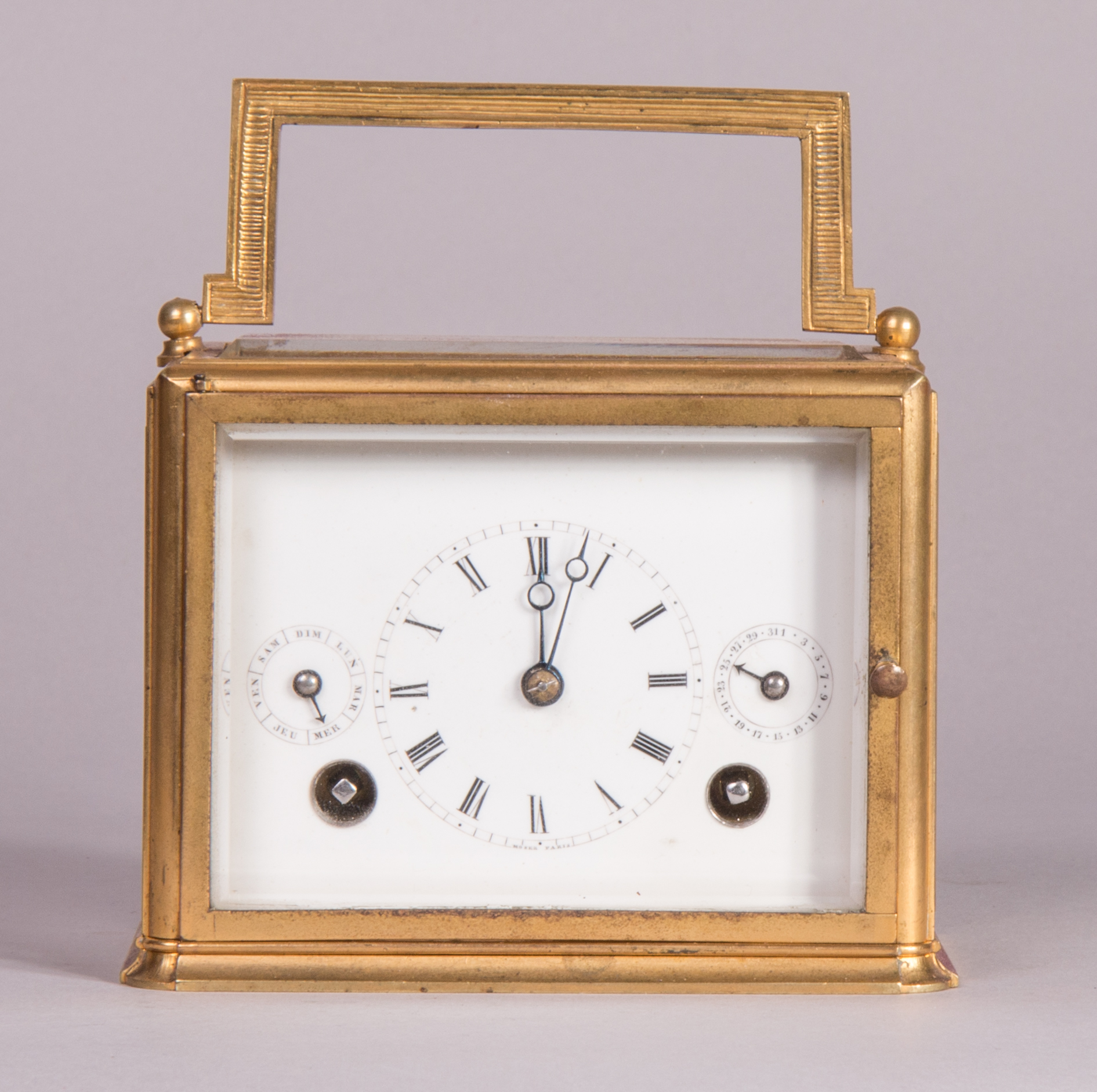 Carriage clock with original case by Heinrich Moser, c. 1850.