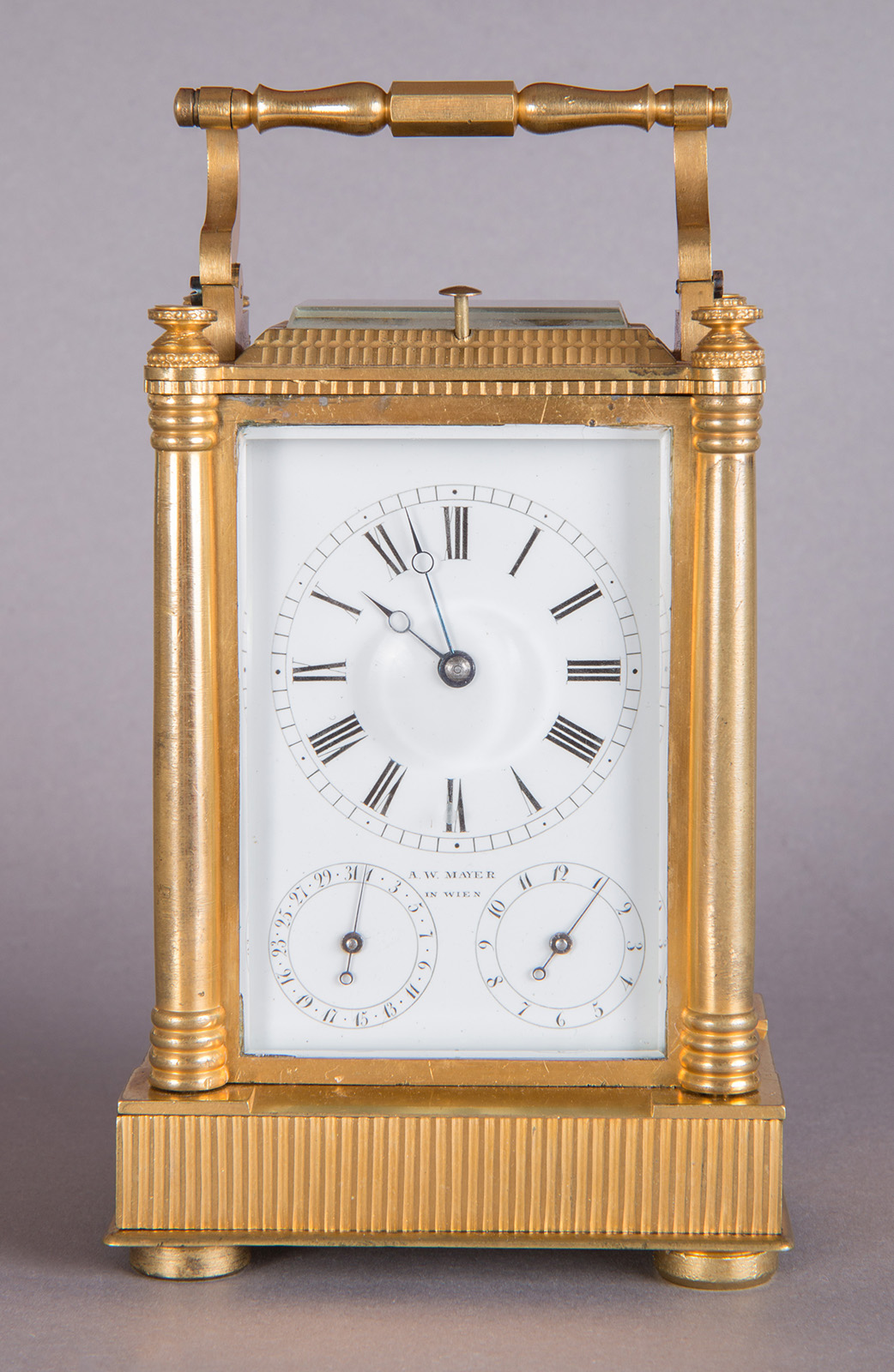 Carriage clock by Andreas W. Mayer, 1901.