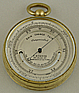 168. AN ENGLISH POCKET BAROMETER, signed 'F. ROBSON 46 Dean St NEWCASTLE-ON-TYNE', circa: 1870-1890.