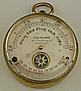 164. AN ENGLISH POCKET BAROMETER WITH COMPASS, signed 'CALLAGHAN 23a New Bond S.t LONDON.', circa: 1870.