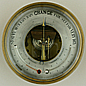 224. AN ENGLISH ANEROID BAROMETER, unsigned, circa: 1860-1880.