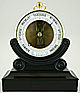 139. A RARE VERY SMALL 10 CM DIAMETER FRENCH BOURDON BAROMETER, signed 'MELAYE, RUE ROYALE 16.', circa: 1860-1865.