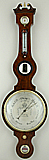88. AN ENGLISH BANJO BAROMETER, signed 'A. PASTORELLI & Co LONDON', circa: 1840-1850.