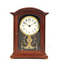 Mahogany Electromagnetic Mantel Clock by Eureka Clock Co