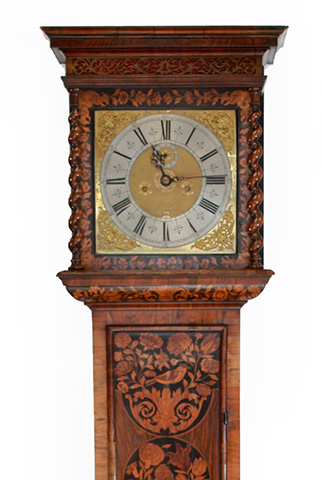 William and Mary Marquetry longcase clock by Christopher Gould, London