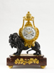 Mantel Clock, signed Festeau Le Jeune a Paris, France, 19th century.