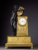 Empire Mantel Clock. Apollo playing the Lyre. Signed Dartois Fils, Paris. Circa 1815.