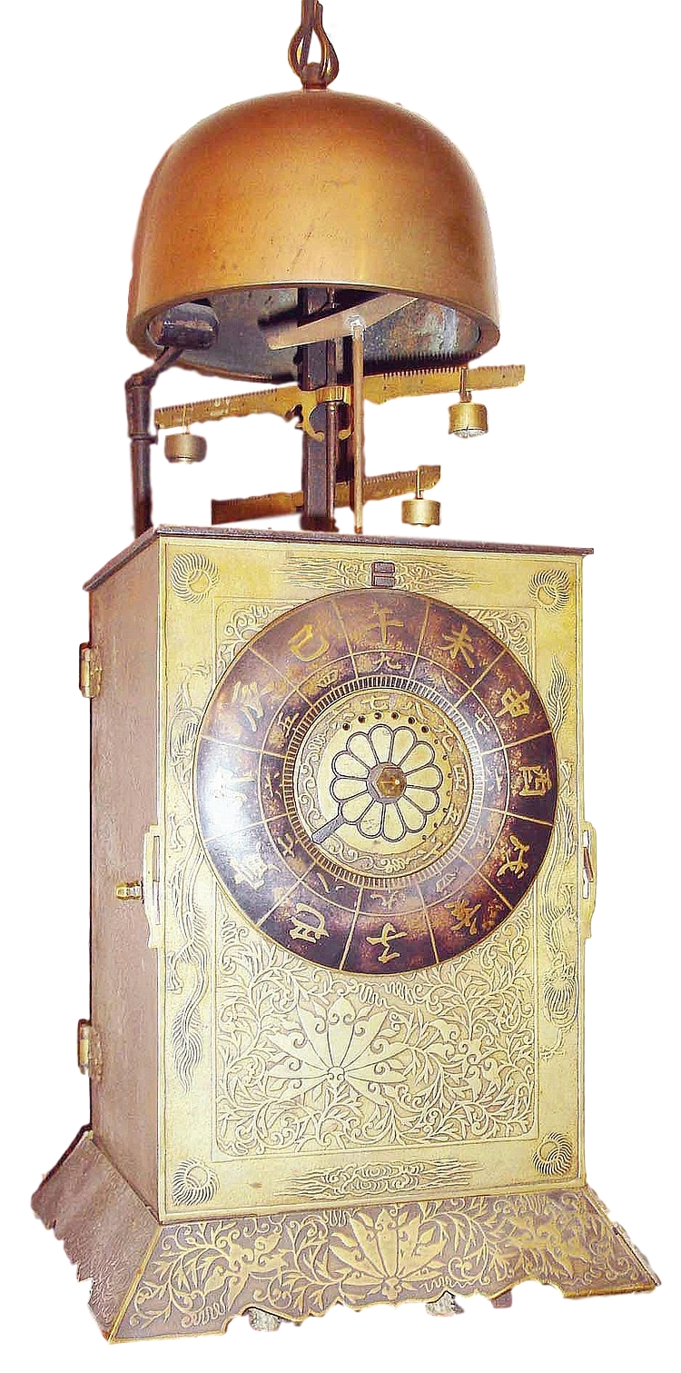 Japanese, double foliot lantern clock, large,