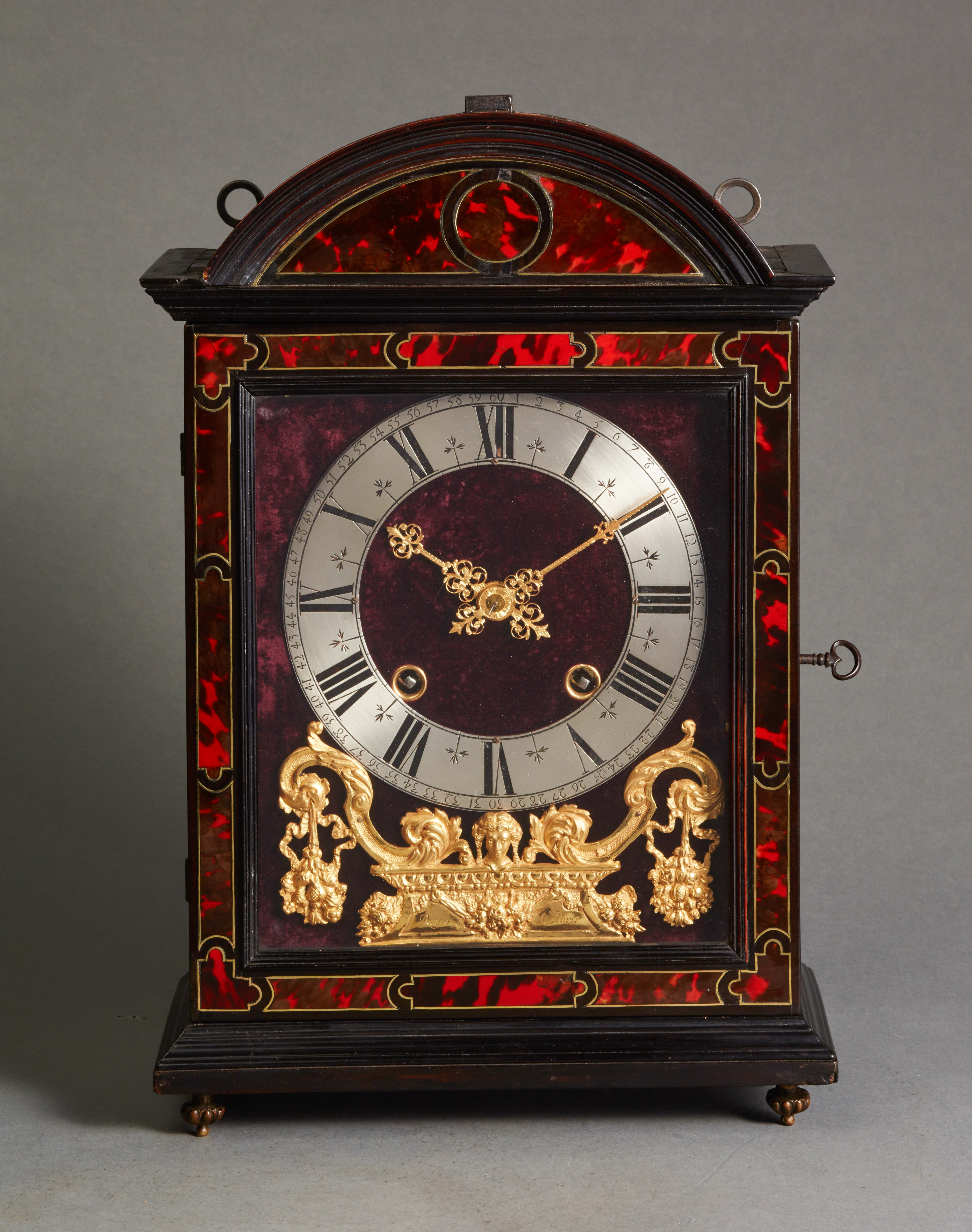 Late 17th century Louis XIV religieuse clock signed