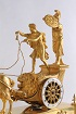 A VERY FINE EMPIRE ORMOLU CHARIOT MANTEL CLOCK, 