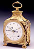 A rare Directoire gilt bronze Grande and Petite Sonnerie Pendule d'Officier of one day
