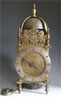 UNSIGNED LANTERN CLOCK ATTRIBUTED TO THOMAS BROWNE