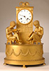Library mantel clock, Empire