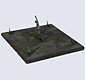 19th C slate sundial with five gnomons