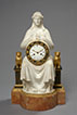 Urania, Important White Marble Clock Attributed to Sculptor François Masson (1745-1807). Paris, early Empire period, circa 1805