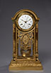The Sacrifice to Love. Finely Chased Gilt Bronze Clock 