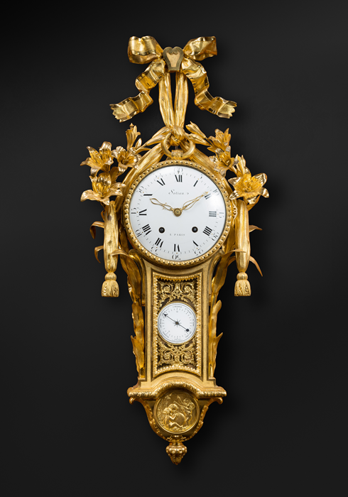 Rare Gilt Bronze Cartel with Barometer