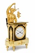 A rare French Empire ormolu and bronze mantel clock, circa 1800
