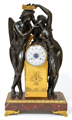 A magnificent French Empire mantel clock Amor & Psyche, Claude Michallon, circa 1800