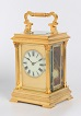 A beautiful French Carriage Clock with going and striking movement.