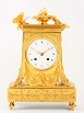 French Empire borne mantel clock