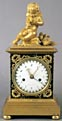 A good French mantle clock with original fire gilt mounts. Circa 1800