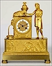 A french ormolu clock of pastoral theme. Made circa 1820.