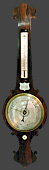 Victorian Banjo Barometer, dated 1851