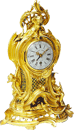 An antique French Louis XV mantel clock with ormolu case, made c. 1750 Signed: Ferdinand Berthoud à Paris.
