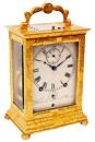 A French quarter striking travelling clock in ormolu case and with matt-silvered dial, c. 1840