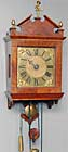 Amsterdam wall clock c. 1740. Signed Willem Redie